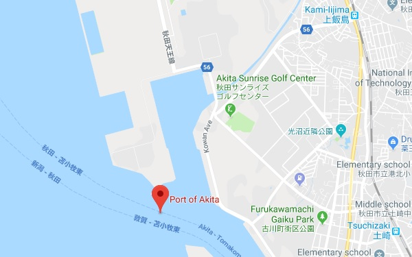 Akita Japan Cruise Port Passenger Terminal Schedule