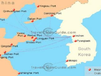 China-South Korea Cruise Port Schedule